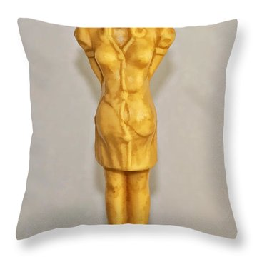 Kilroy Was Here Throw Pillow by Kathleen K Parker