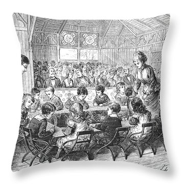 Kindergarten, 1876 Throw Pillow by Granger