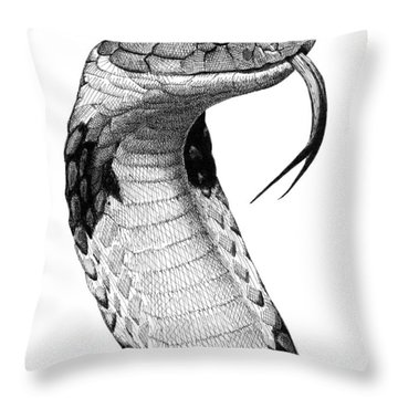 King Cobra Throw Pillow
