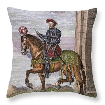 King Francis I (1494-1547) Throw Pillow by Granger