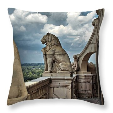 King Of The Beasts In The Land Of The Braves Throw Pillow by Farol Tomson