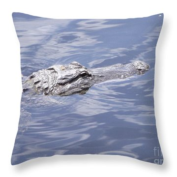King Of The Everglades Throw Pillow