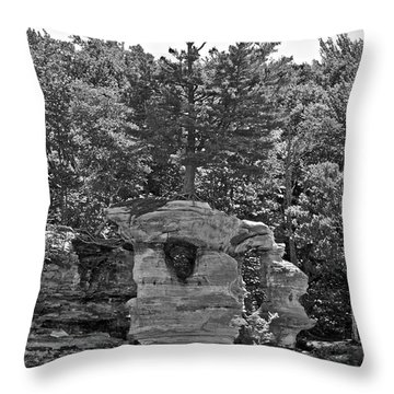 King Of The Hill Pictured Rocks Throw Pillow by Michael Peychich