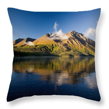 Kings Throne Mountain And Kathleen Throw Pillow by John Sylvester