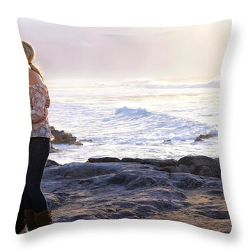 Kissed By The Ocean Throw Pillow