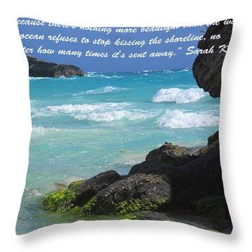Kissing The Shore Throw Pillow by Ian  MacDonald