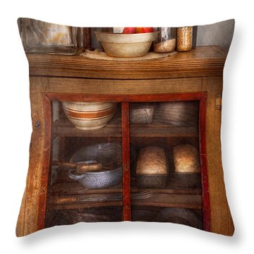 Kitchen - The Cooling Cabinet Throw Pillow by Mike Savad
