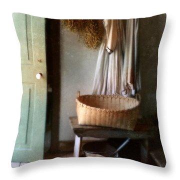 Kitchen Door In Old House Throw Pillow by Jill Battaglia