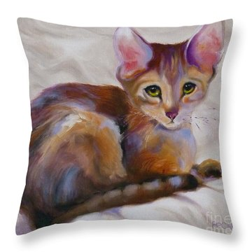 Kitten Princess Throw Pillow