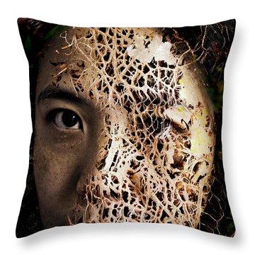 Knit Together Throw Pillow by Christopher Gaston