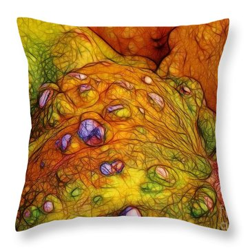 Knobbly Squash Throw Pillow by Judi Bagwell