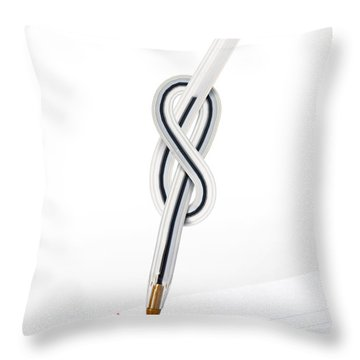 Knot Pen Throw Pillow by Carlos Caetano
