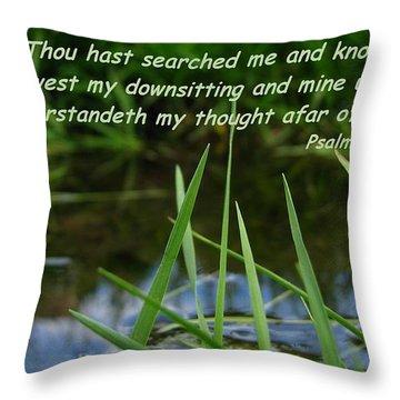 Known Through And Through Throw Pillow