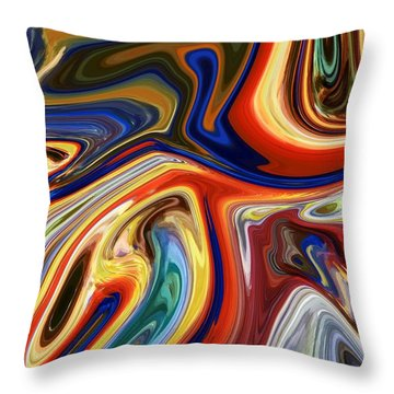 Koi Throw Pillow by Chris Butler