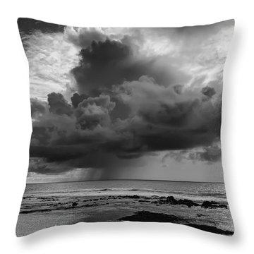 Kona Coast Squall - Big Island Hawaii Throw Pillow by Daniel Hagerman
