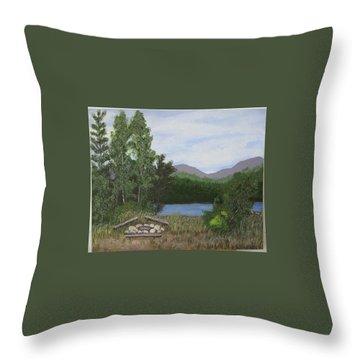 Kootenay Lake Bc Throw Pillow