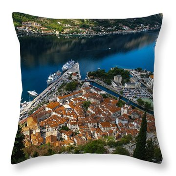 Throw Pillow featuring the photograph Kotor Montenegro by David Gleeson