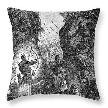 Kublai Khans Army, 1281 Throw Pillow