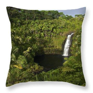 Kulaniapia Falls Throw Pillow