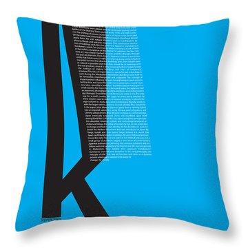 Kurosawa Poster Throw Pillow by Naxart Studio