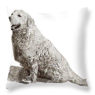 Kuvasz Named Pax Throw Pillow by Jack Pumphrey