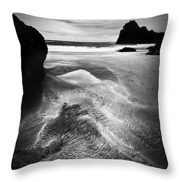 Kynance Cove Cornwall Throw Pillow by Dorit Fuhg
