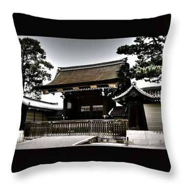 Kyoto Gosho Throw Pillow by Juergen Weiss