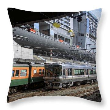 Kyoto Main Train Station - Japan Throw Pillow