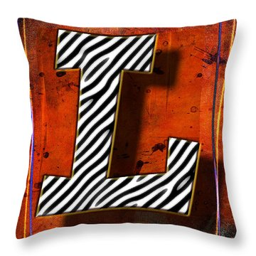 L Throw Pillow by Mauro Celotti