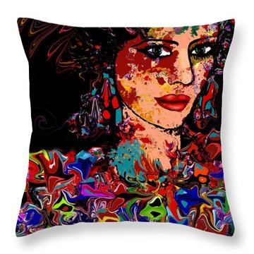 La Bella Throw Pillow by Natalie Holland