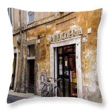 La Bicicletta Throw Pillow