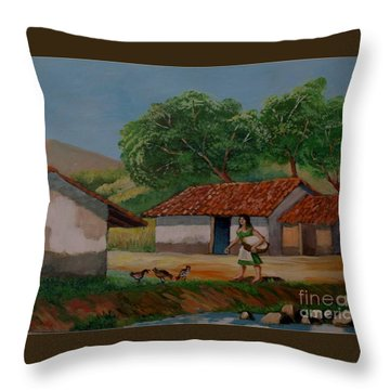 La Dama Del Rio Throw Pillow
