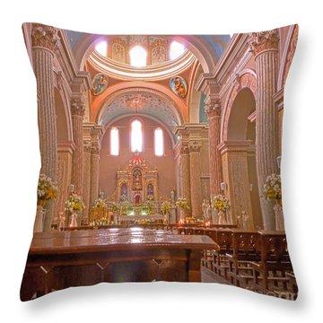 La Iglesia Matriz De Sangolqui Ecuador Throw Pillow