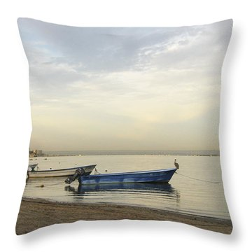 La Paz Waterfront Throw Pillow
