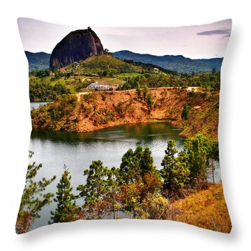 La Piedra Throw Pillow by Skip Hunt