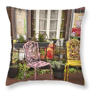 Throw Pillow featuring the photograph La Roche Guyon by Hugh Smith