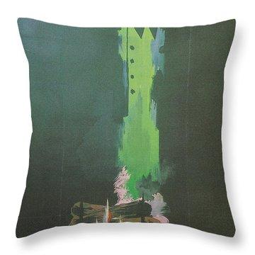 La Silence De La Mer Throw Pillow by Georgia Fowler