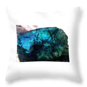 Throw Pillow featuring the painting Labrodite Water Paint by Colette V Hera  Guggenheim