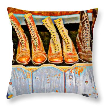 Laces Extraordinaire Throw Pillow