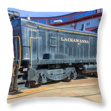 Lackawanna Locomotive 426 Throw Pillow by Clarence Holmes