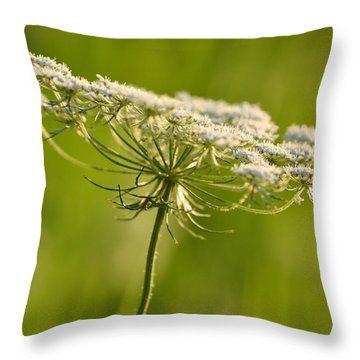Lacy White Flower Throw Pillow