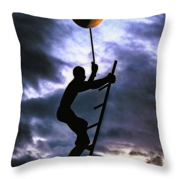 Ladder To The Moon Throw Pillow by Joachim G Pinkawa
