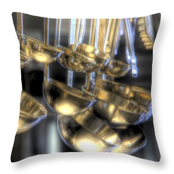 Ladles And Spoons Throw Pillow by Steve Gravano