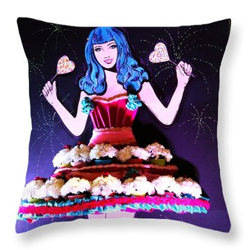 Throw Pillow featuring the photograph Lady In Flowers by Alice Gipson