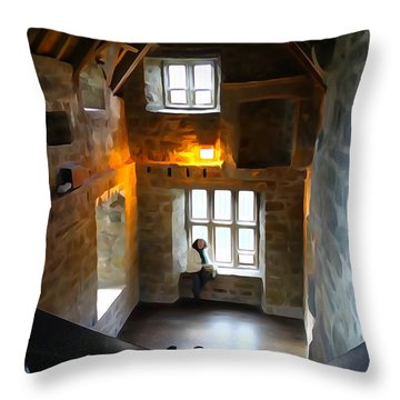 Throw Pillow featuring the photograph Lady In Waiting  by Charlie and Norma Brock