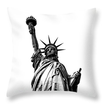 Lady Liberty Throw Pillow