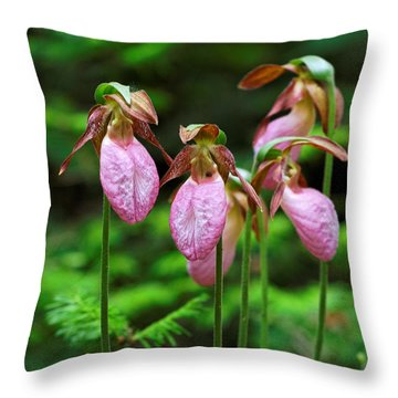 Lady Slippers Everywhere Throw Pillow