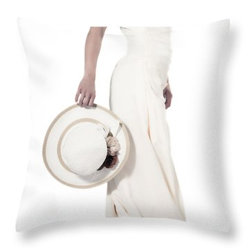 Lady With A Hat Throw Pillow by Joana Kruse