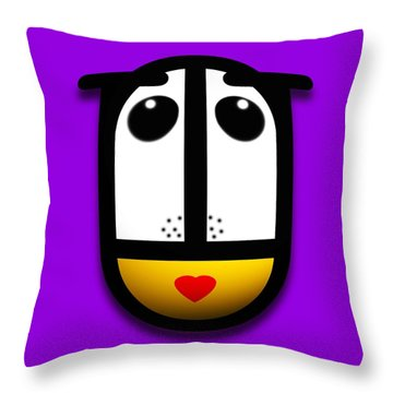 Ladymouse Throw Pillow by Charles Stuart