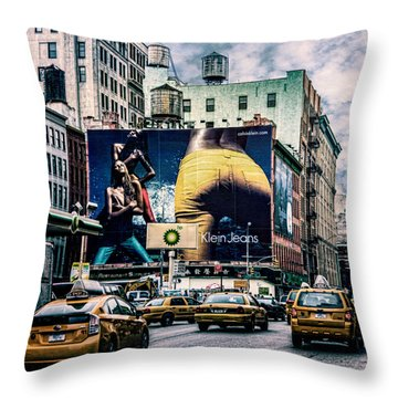 Lafayette And Houston Nyc Throw Pillow by Chris Lord